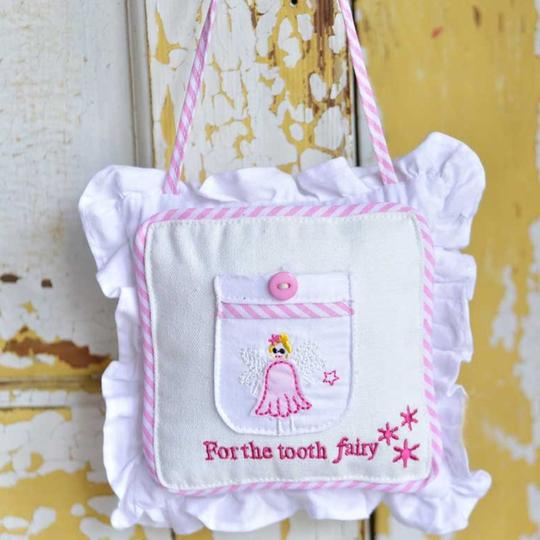 FAIRY LACE PINK TOOTH FAIRY CUSHION