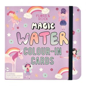 FAIRY UNICORN WATER PEN COLOR-IN CARDS