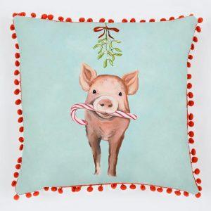 FESTIVE PIG PILLOW