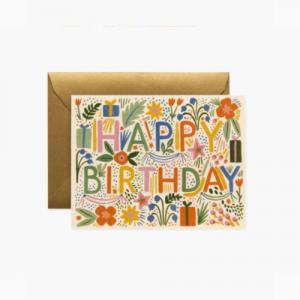FIESTA BIRTHDAY CARD BOXED SET OF 8