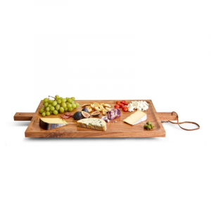 FOOTED SERVING TRAY WITH HANDLES