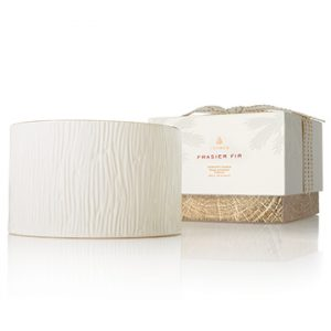 FRASIER FIR GILDED CERAMIC 3-WICK CANDLE