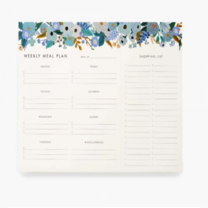 GARDEN PARTY BLUE MEAL PLANNER