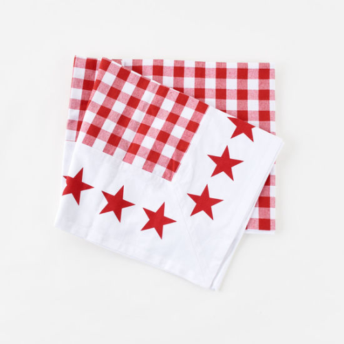 GINGHAM WITH STAR BORDER PICNIC CLOTH
