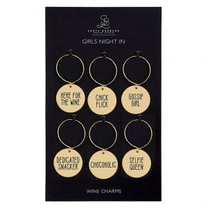 GIRLS NIGHT IN WINE CHARM SET