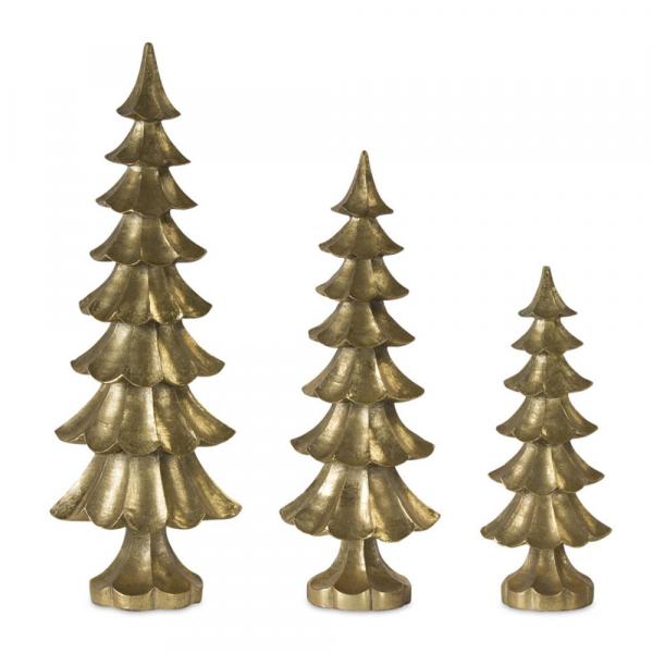 GOLD CHRISTMAS TREES