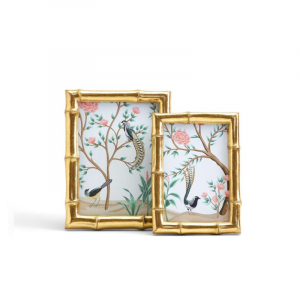 GOLD FAUX BAMBOO PHOTO FRAMES