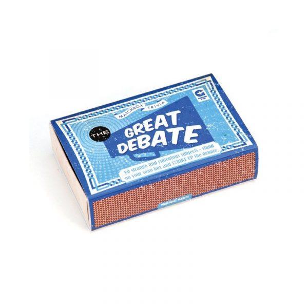 GREAT DEBATE MATCHBOX TRIVIA GAME
