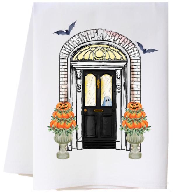 HALLOWEEN DOOR FLOUR SACK TOWEL