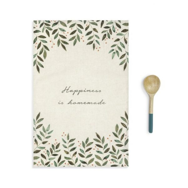 HAPPINESS KITCHEN TOWEL AND UTENSIL SET