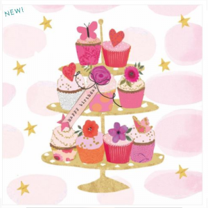 HAPPY CUPCAKES BEVERAGE NAPKINS