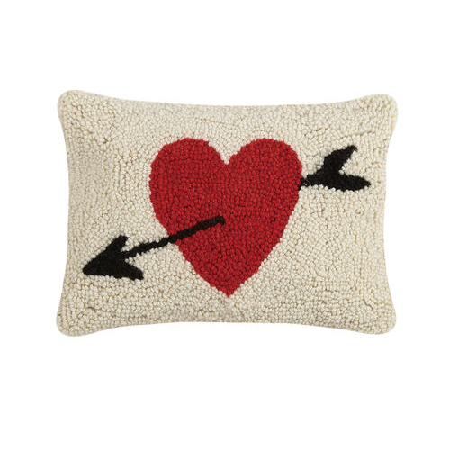 HEART CUPID'S ARROW HOOK PILLOW