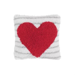 HEART STRIPE PILLOW