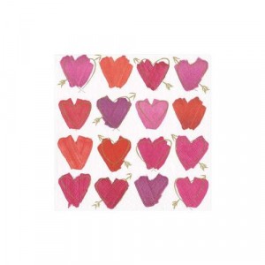 HEARTS AND ARROW COCKTAIL NAPKINS