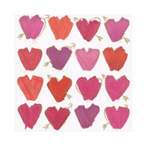 HEARTS AND ARROW LUNCHEON NAPKINS