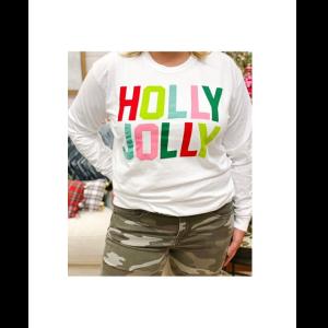 HOLLY JOLLY LONG SLEEVE SHIRT