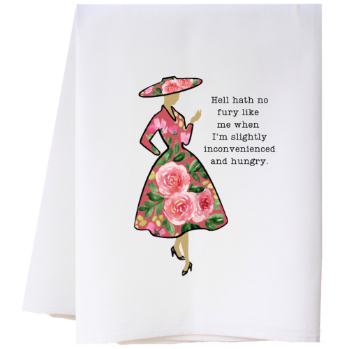 INCONVENIENCED AND HUNGRY FLOUR SACK TOWEL
