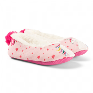 JOULES PINK UNICORN SLIPPERS