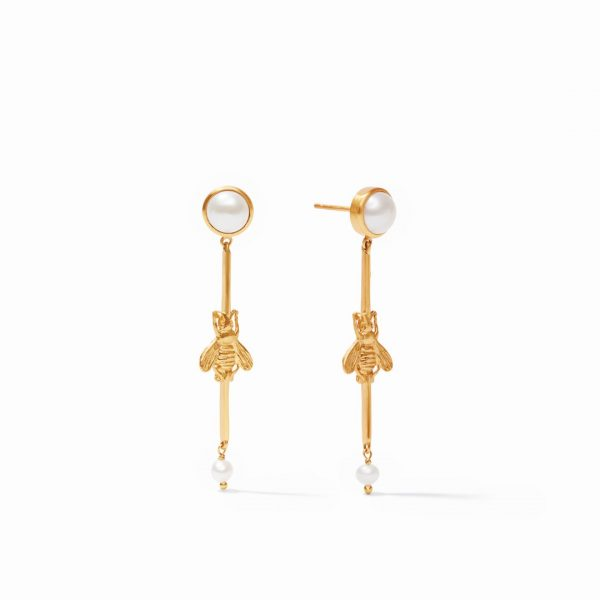 JULIE VOS BEE DUSTER EARRING IN GOLD