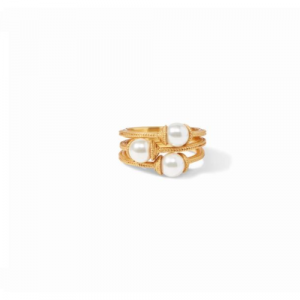 JULIE VOS CALYPSO PEARL STACKING RING