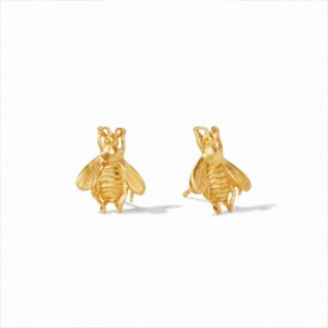 JULIE VOS GOLD BEE STUDS