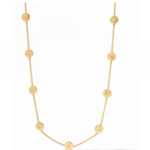 JULIE VOS PENELOPE DELICATE STATION NECKLACE