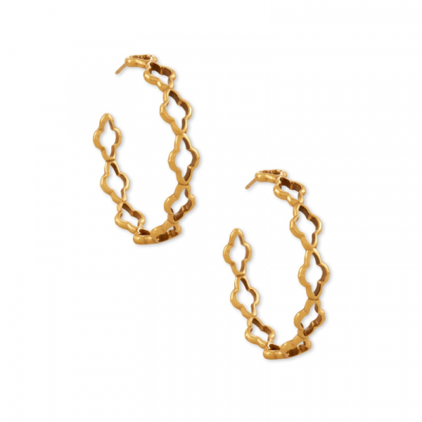KENDRA SCOTT ABBIE HOOP EARRINGS IN VINTAGE GOLD