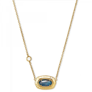 KENDRA SCOTT ANNA SHORT PENDANT NECKLACE IN VINTAGE GOLD