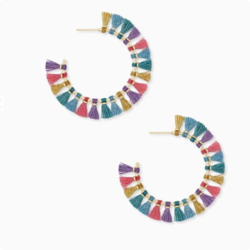 KENDRA SCOTT EVIE GOLD HOOP EARRINGS