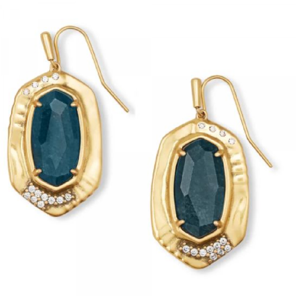 KENDRA SCOTT VINTAGE GOLD ANNA DROP EARRINGS