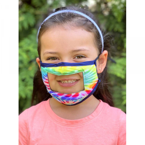 KIDS REVERSIBLE SMILE FACE MASK