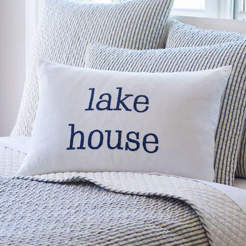 LAKE HOUSE WHITE LINEN PILLOW