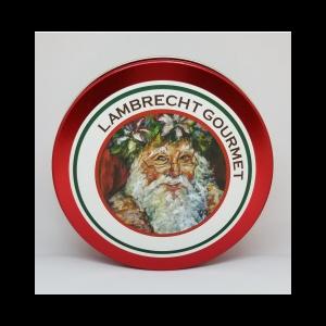 LAMBRECHT GOURMET SANTA GIFT PECAN TIN 8 OZ