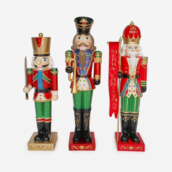 LARGE LIGHTED NUTCRACKERS