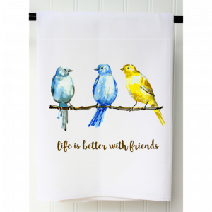LIFE IS BETTER WITH FRIENDS FLOUR SACK TOWEL