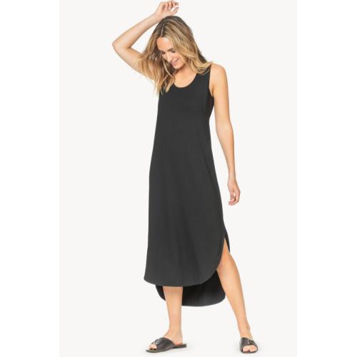 LILLA P EASY TANK DRESS-BLACK