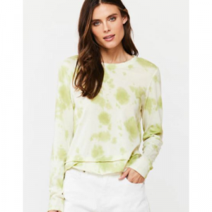 LIME TIE DYE LONG SLEEVE TOP