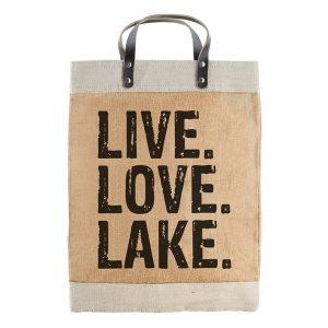 LIVE LOVE LAKE MARKET TOTE