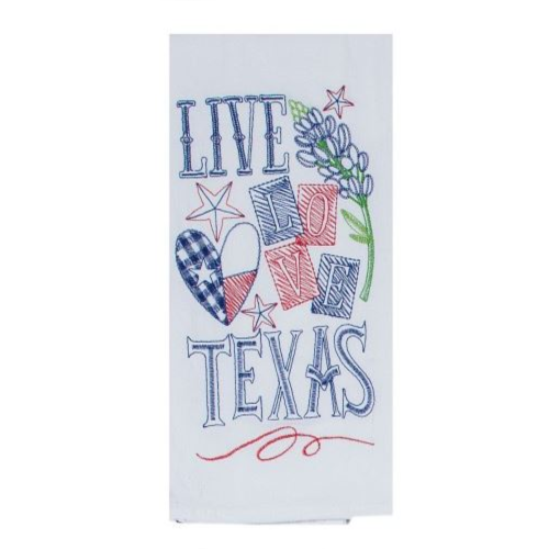 LIVE LOVE TEXAS FLOUR SACK TOWEL