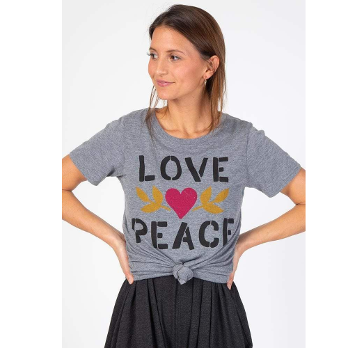 LOVE PEACE PERFECT FIT TEE