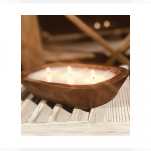 LUX CAPE JASMINE 3 WICK DOUGH BOWL