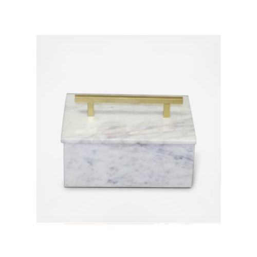 MARBLE JEWELRY BOX WITH HANDLE