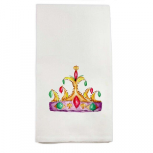 MARDI GRAS CROWN DISH TOWEL