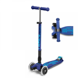 MAXI DELUXE FOLDABLE LED CHILD SCOOTER- NAVY