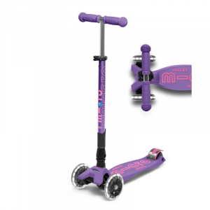 MAXI DELUXE FOLDABLE LED CHILD SCOOTER- PURPLE
