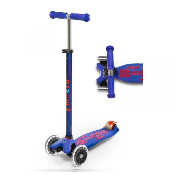 MAXI DELUXE LED CHILD SCOOTER- BLUE