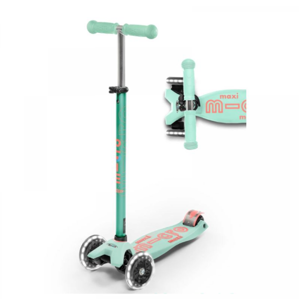 MAXI DELUXE LED CHILD SCOOTER- MINT