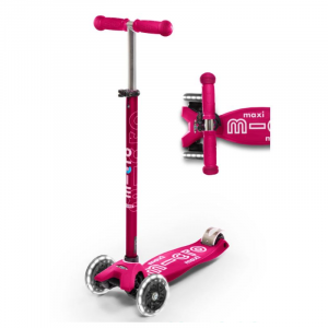 MAXI DELUXE LED CHILD SCOOTER- PINK