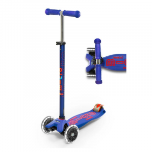 MAXI DELUXE LED CHILD SCOOTER- PURPLE