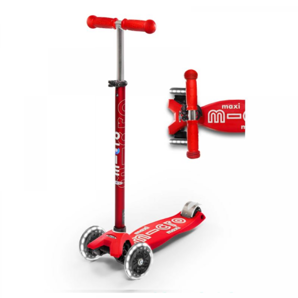 MAXI DELUXE LED CHILD SCOOTER- RED
